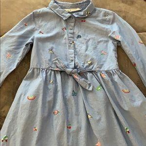 Size 5-6 little girls long sleeve dress